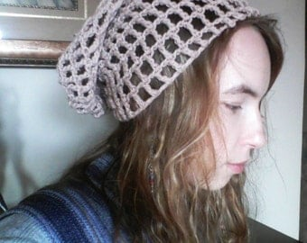 Funky teenage crochet hat. Modern style. Ecofriendly. Size small. Custom made beanie