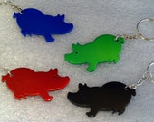 NEW --- Pig Shaped Key Chain with Bottle Opener -- Laser Engraved -- Personalized
