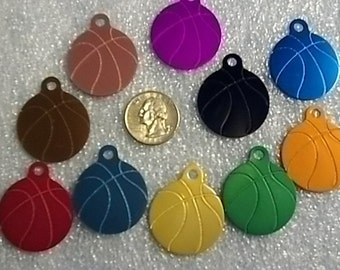Sports Bag Tag - Basketball - Laser Engraved - Personalized - Made in the USA