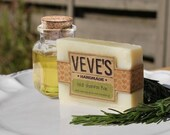 Tea Tree and Rosemary Solid Shampoo Bar, soap by Veve's Handmade