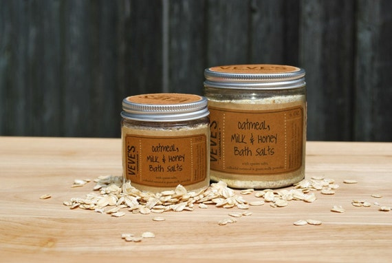Oatmeal Milk and Honey Bath Salts 3oz by Veve's by VevesHandmade
