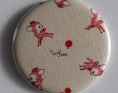 Little Deer Pocket Mirror Buy 1 Get 1 Free Fabric Button Mirror