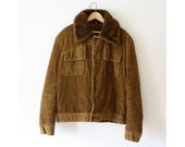 Vintage 1970s Unisex Brown Corduroy Jacket