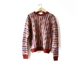Sweater Vintage Wool Unisex Pullover Size L/XL