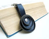 Dark Blue Leather key fob