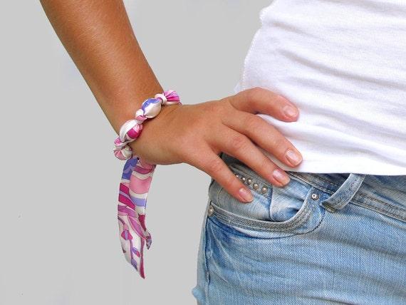 Fabric Bracelet PINK FANTASY
