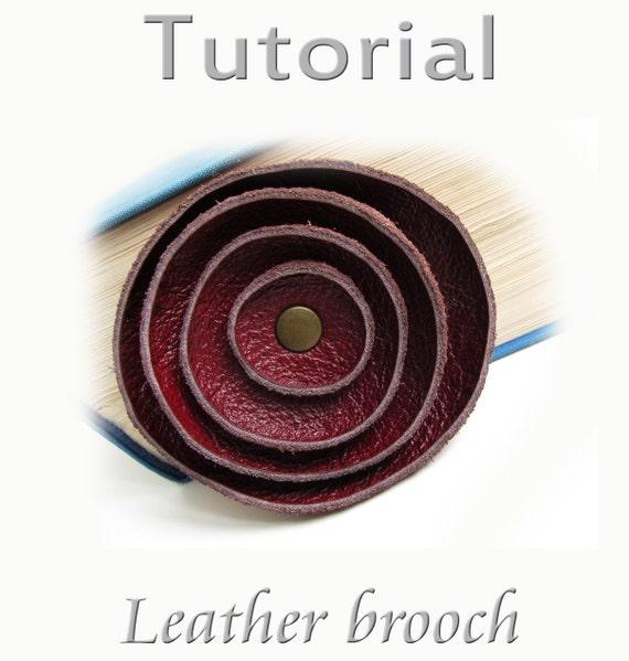 Tutorial  Leather brooch PDF