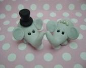 Polymer Clay Elephant Wedding Topper
