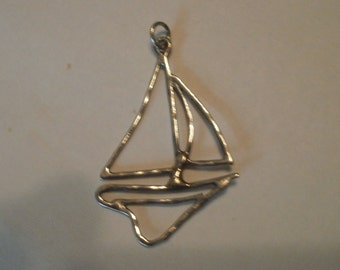 Wire Work Sterling Silver Sailboat