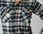 Vintage Plaid Boyfriend's Flannel Shirt