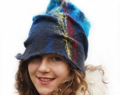 Felted Hat  for Women  - Fall Fashion- Autumn- Christmas- Modern