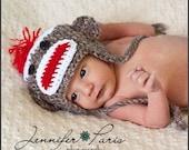 Sock Monkey Winter Hat