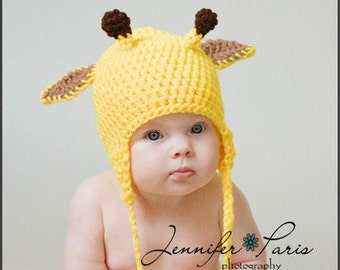Giraffe Crochet Hat