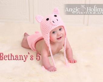 Pig Crochet Hat Halloween costume sale