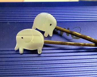 Elephant shell hair bobby pin