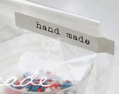 Sticker for Hand-Made Products - White (64 pcs)