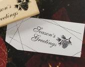 Season's Greetings Pignolia Stamp (2.4 x 1.2in)