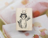 Patisserie Le Chat Cat Label Stamp