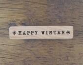 Happy Winter Stamp