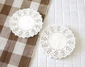 Pretty Flower Lace Paper Doilies 4.5 inch (100 sheets)