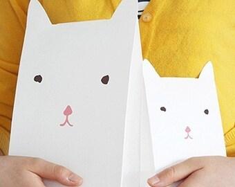2 Amelie Cat Gift Bags (6.3 x 10.2in / 3.8 x 6.3in)