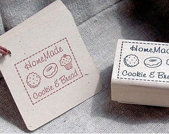 HomeMade Cookie & Bread Label Stamp (1.6 x 1.2in)