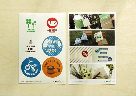 Fresh Nature Photo and Campaign Label Sticker (2 sheets)