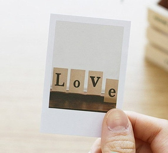 Love Polaroid Style Memo Post-it (40 sheets)