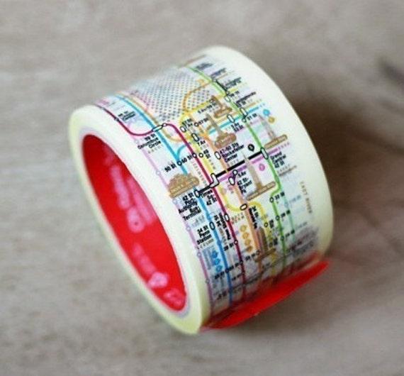 60 mm NY Manhattan Subway Pattern Tape