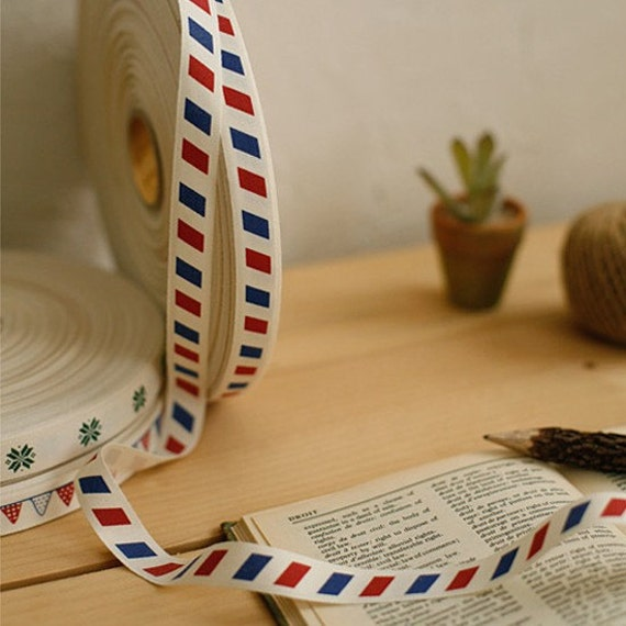 Air Mail Cotton Label Tape (1 yard)