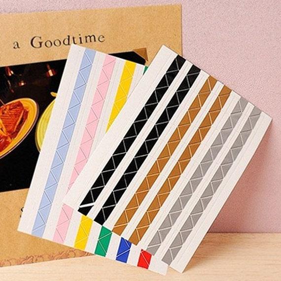 Colourful Immovable Corner Sticker Set (204 corners)