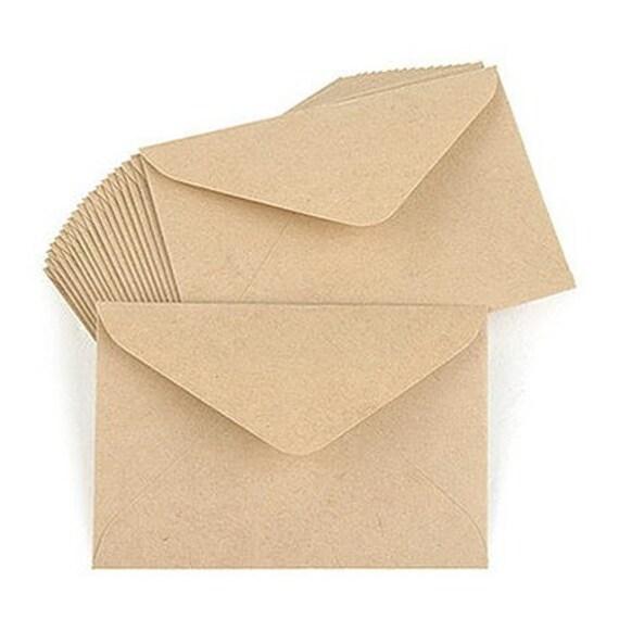 Simple Kraft Envelopes Set - MEDIUM (15 sheets)