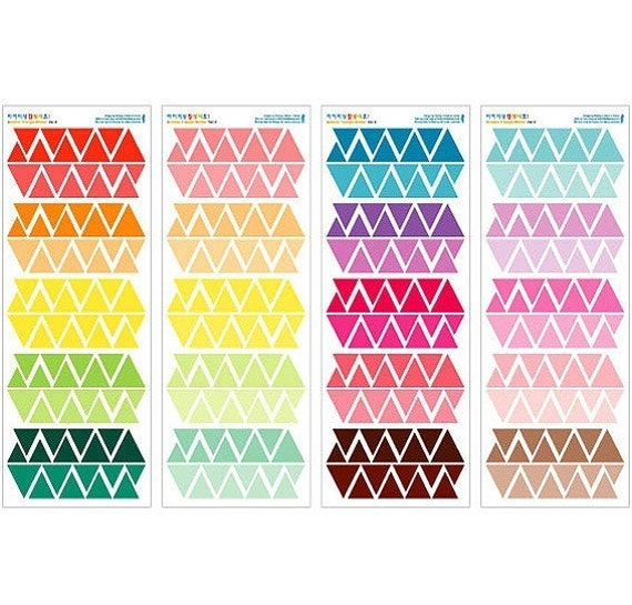 Triangle Decor Stickers (4 sheets)