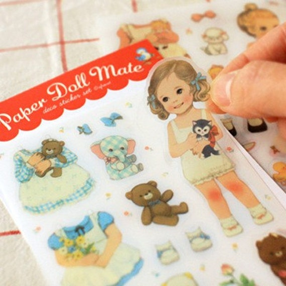 Paper Doll mate REMOVAL Stickers (Transparent type 6 sheets)