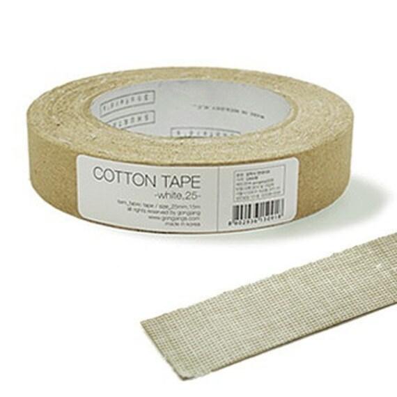 WHITE Cotton Decor Tape 1 inch (adhesive)