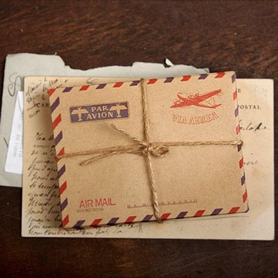 mini Airmail Kraft Envelopes - LONDON (10 sheets)