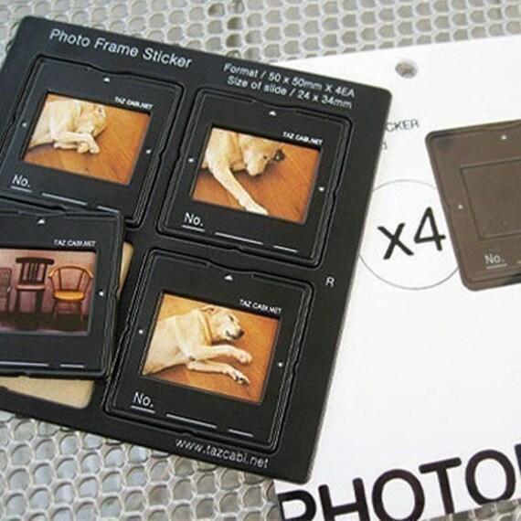 Mini Photo Frame Black Sticker Set (4 frames)