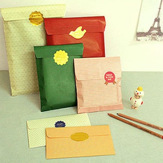 Slim Gift Pack (6 envelopes, 13 stickers)