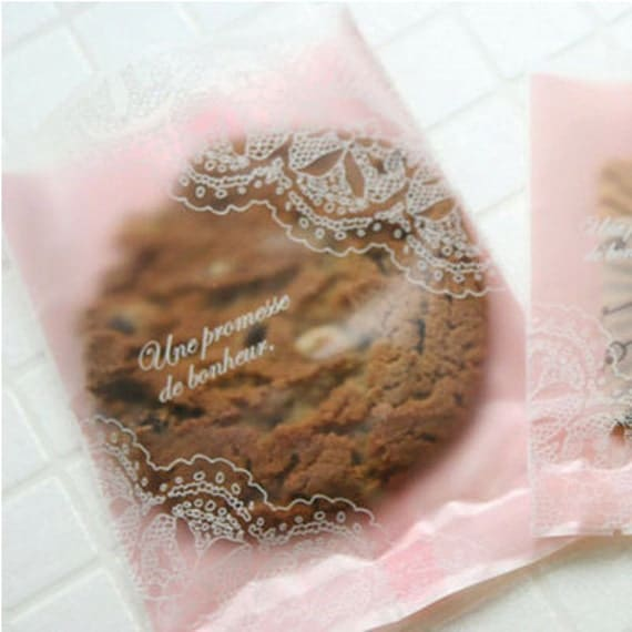 Lace Cookie Bag in Pink (20 bags)