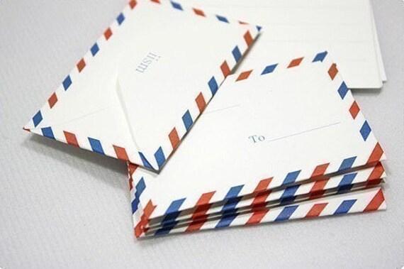 Mini Airmail Design Letters and Envelopes (5 envelopes, 10 letters)