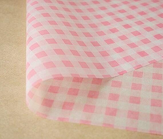 Pink Check Wax Paper (25 sheets)