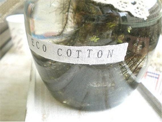 Eco Cotton Deco Tape 0.4 inch - S (adhesive)