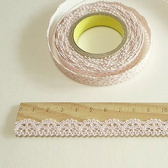 Romantic Lace Fabric Deco Tape - Baby Pink (adhesive)