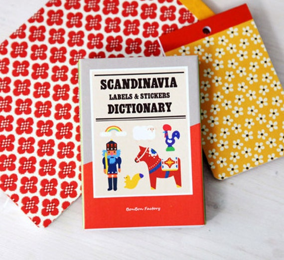 Scandinavia Label Stickers Dictionary (90 sheets)