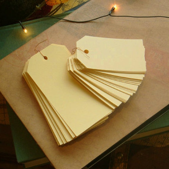 Standard Gift Tag - Pale Yellow / S (50 tags)
