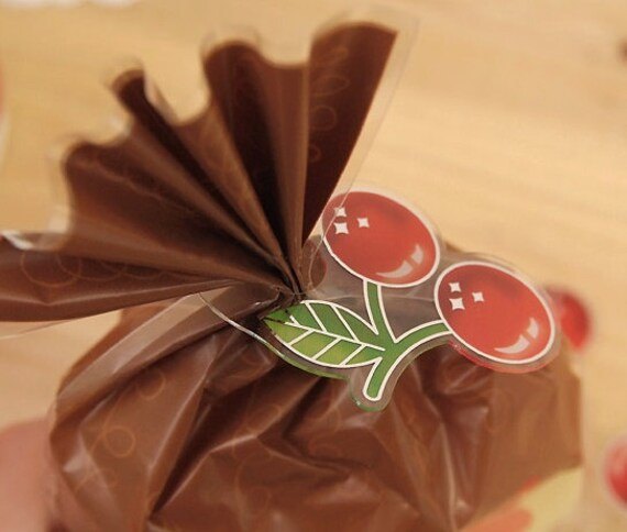 Cherry Clear Ties (20 pcs)