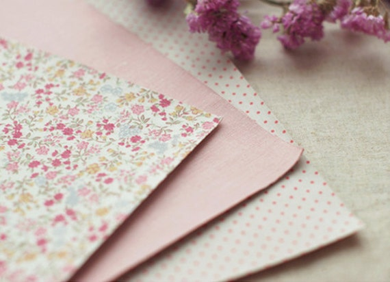 3 SET - Haze Lovely Pink Reform Fabric Stickers set (different designs)