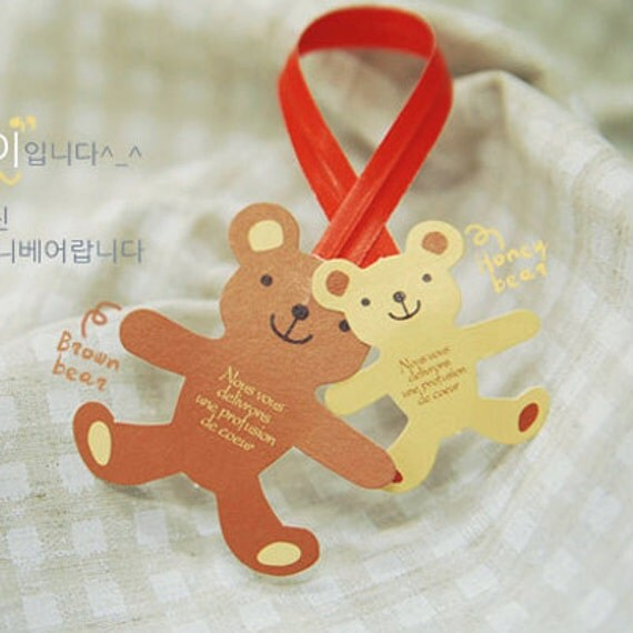 Teddy Bear Wire Tie for Gift Wrapping (10 pcs)