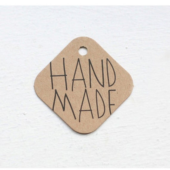 Handmade Square Kraft Tags (25 EA)