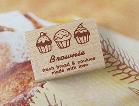 Brownie Bread & Cookies Label Stamp